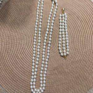 Premier design pearl necklace and bracelet